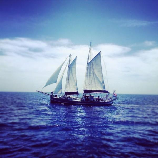 Un vieux gréement en mer Egée