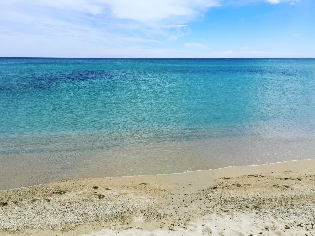 La belle plage de Pampelone située sur la commune de Ramatuelle
