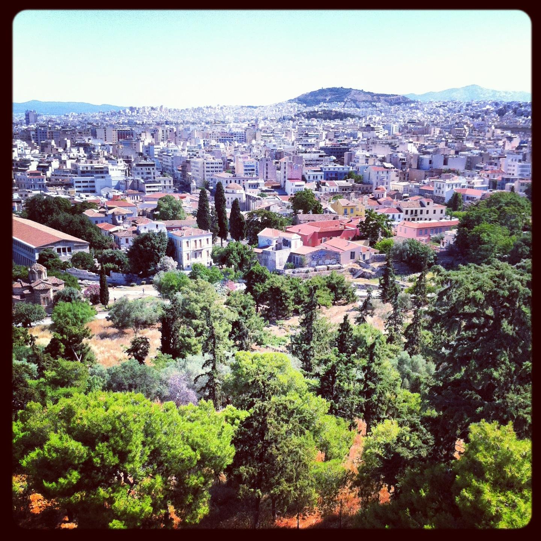 vue sur Athènes depuis le Parthenon