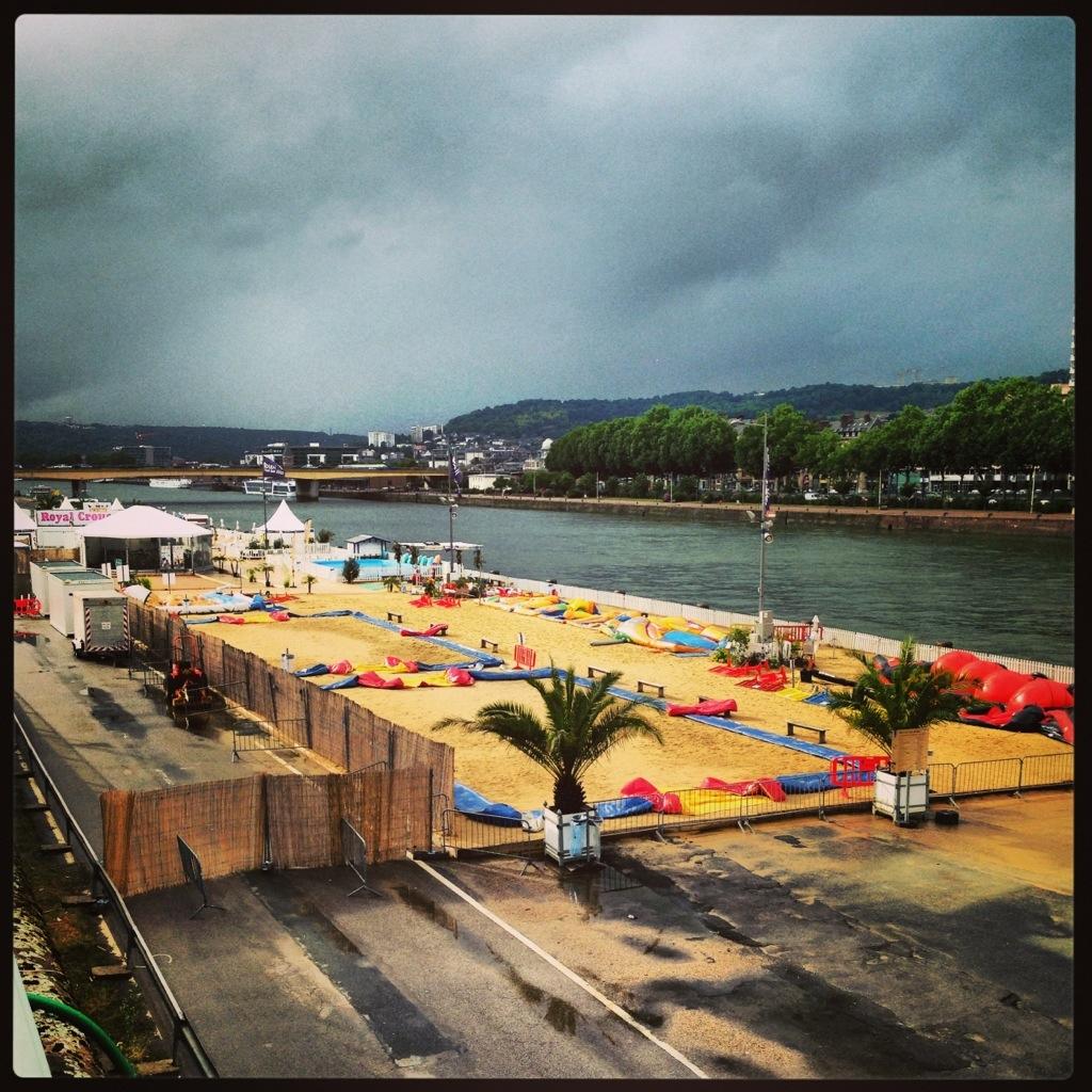 Rouen plage le long de la Seine