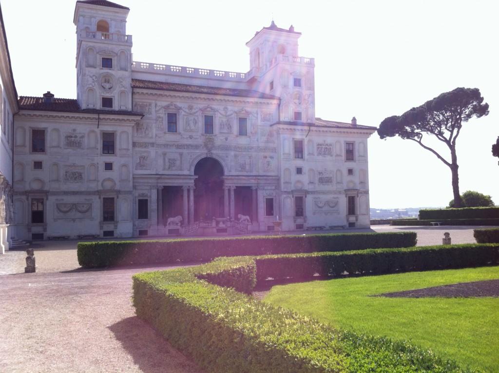 La Villa de Medicis côté parc