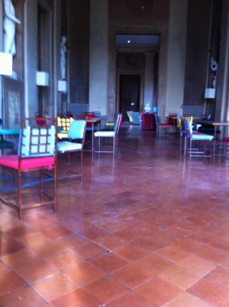 La salle commune de la Villa de Medicis