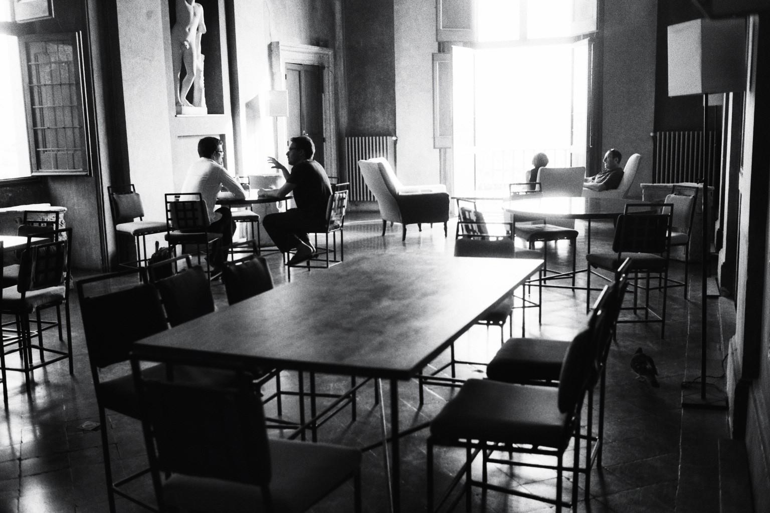 Le salon de thé de la villa de Medicis