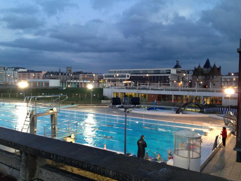 La piscine de la ville de Dieppe en bord de mer
