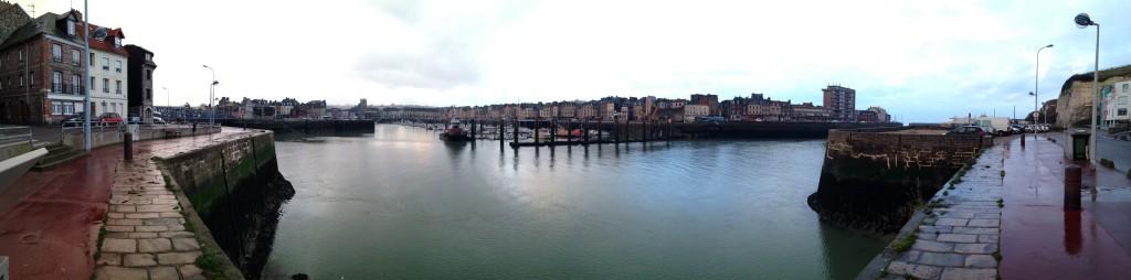 Panorama sur le port de Dieppe