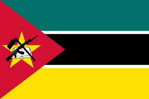 drapeau du Mozambique, l'un des pays le plus pauvre au monde