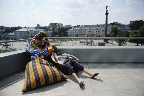 Portrait d'un photographe russe Evgeni Ivanov