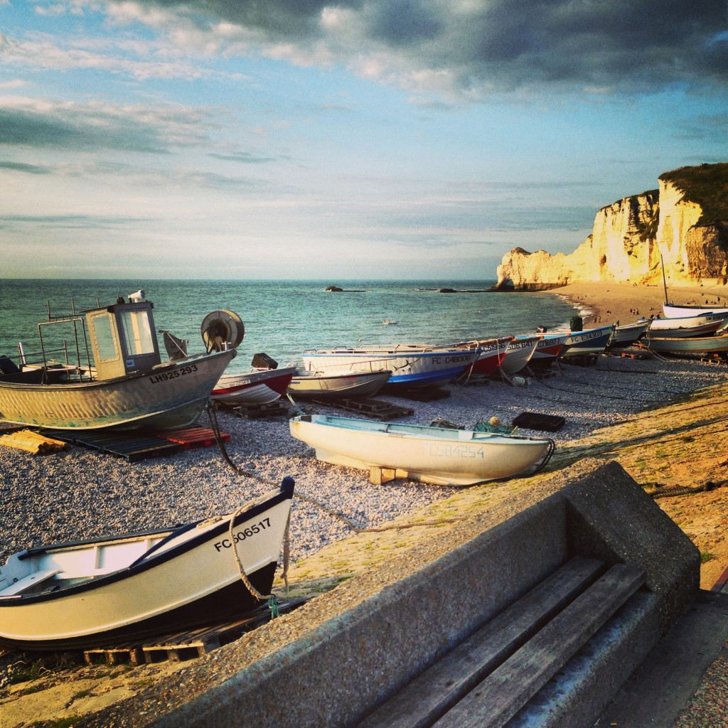 Barques de pêcheurs à Etretat