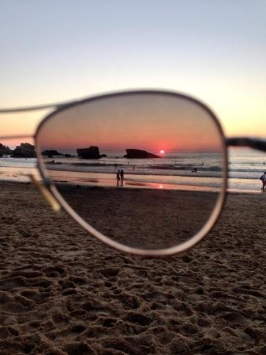 un coucher de soleil inoubliable à Biarritz