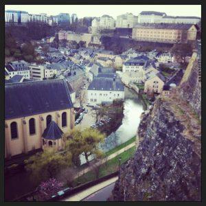 Vue sur la vieille ville de Luxembourg