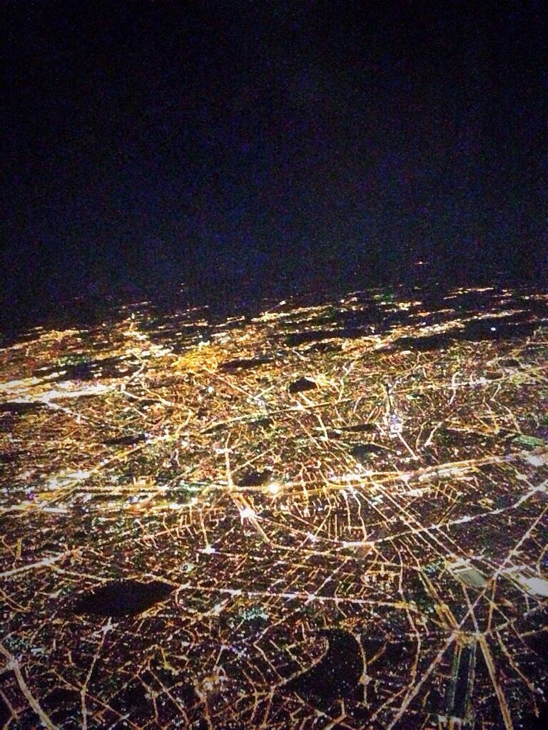 Paris vu du ciel, la nuit