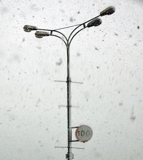 neige à moscou octobre 2007