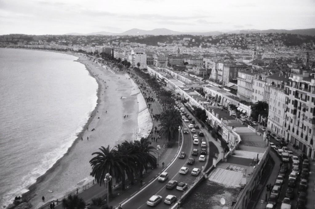Vue mer depuis les hauteurs de Nice
