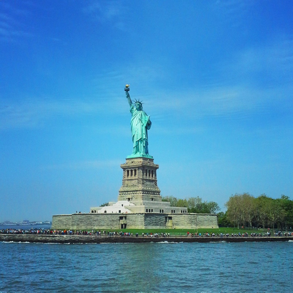 La statue de la liberté, un cadeau du peuple français aux USA.