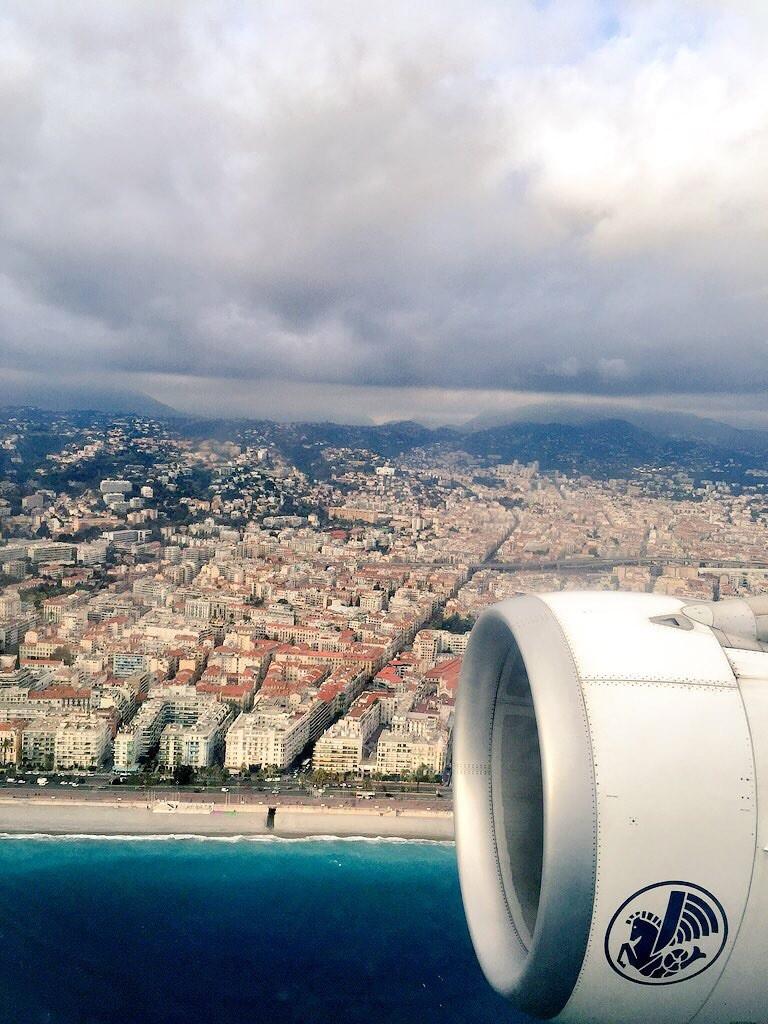 Arrivée magique sur Nice
