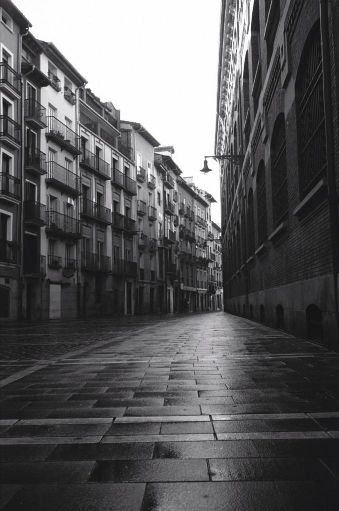 Une petite ruelle à Pampelune