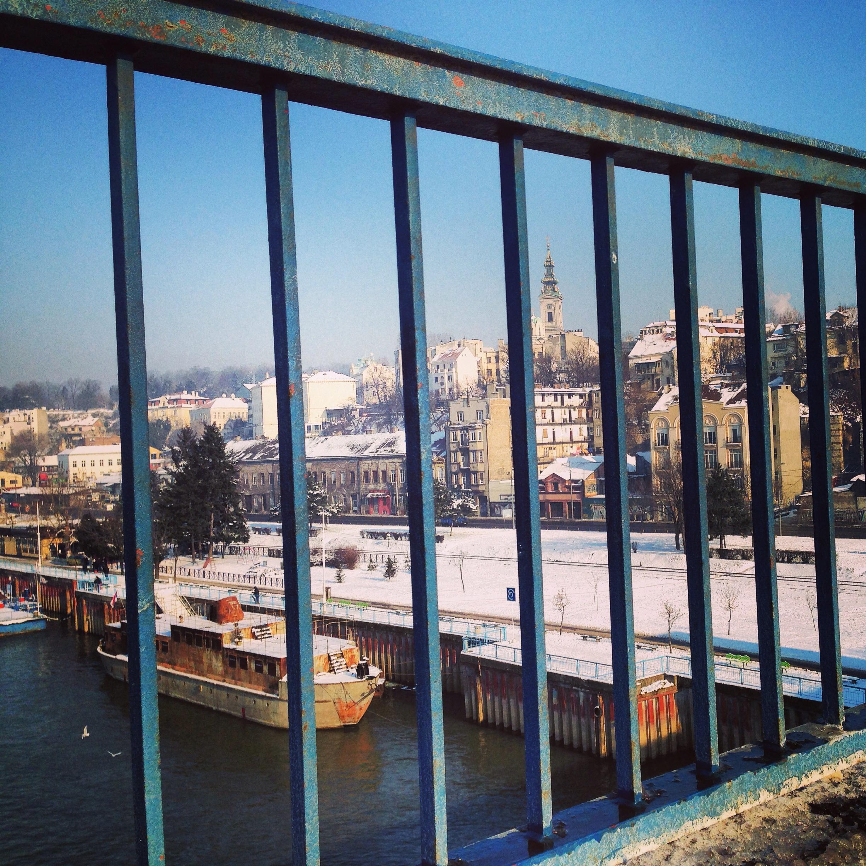 Vue sur le Danube et le centre ville de Belgrade
