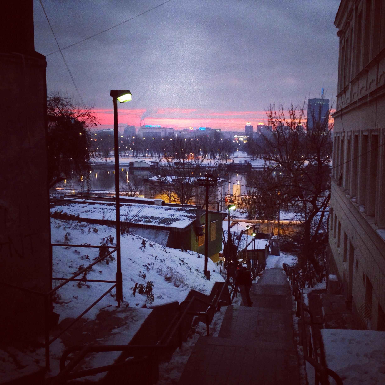 Fin de journée sur Belgrade