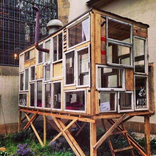 Une maison transparente à Prague