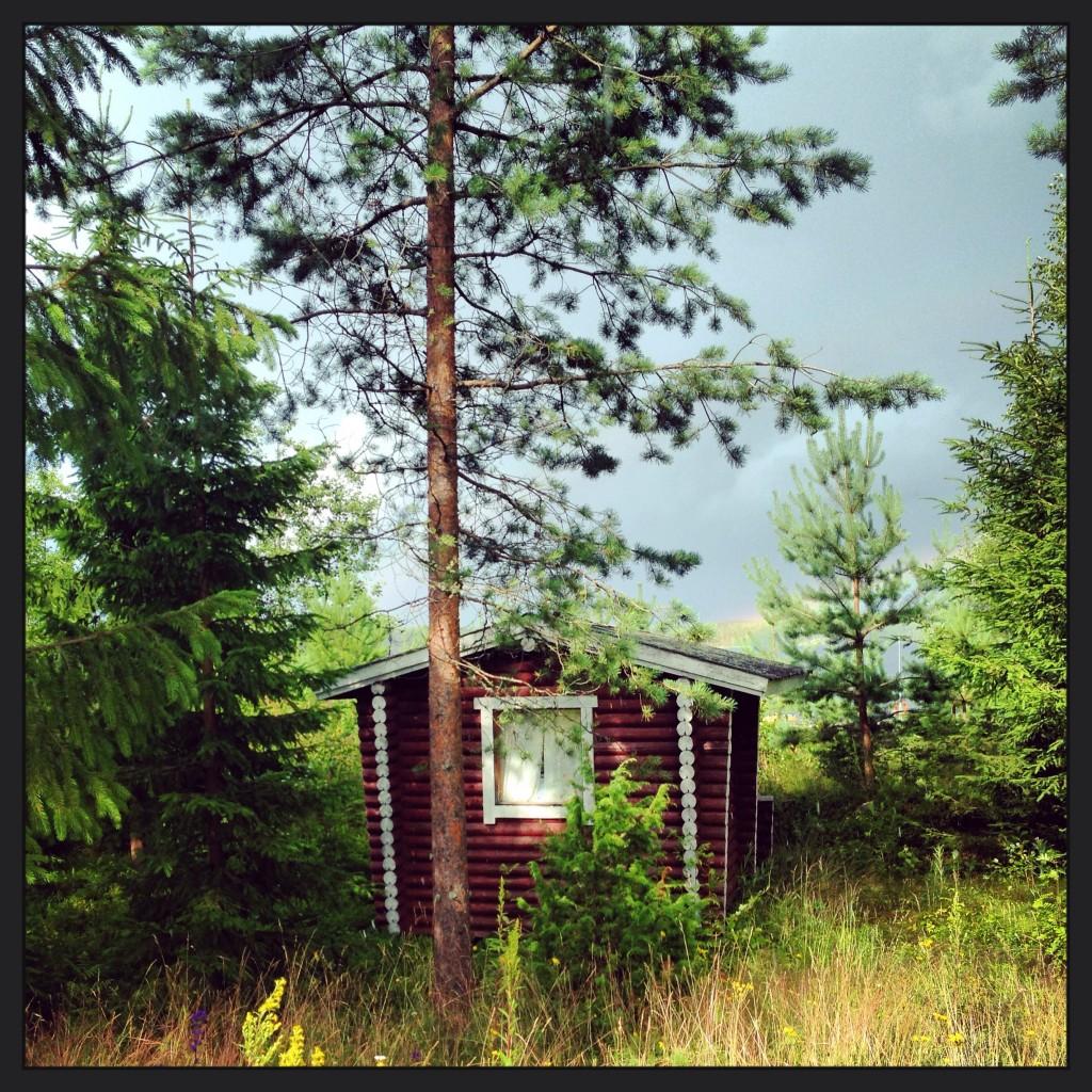 Une petite maison dans les bois en Finlande