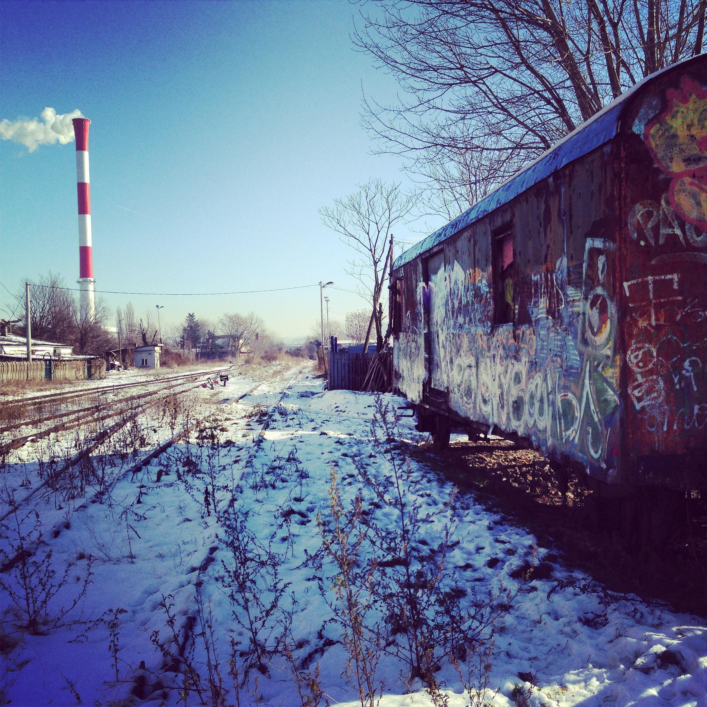 Un wagon abandonné en Serbie