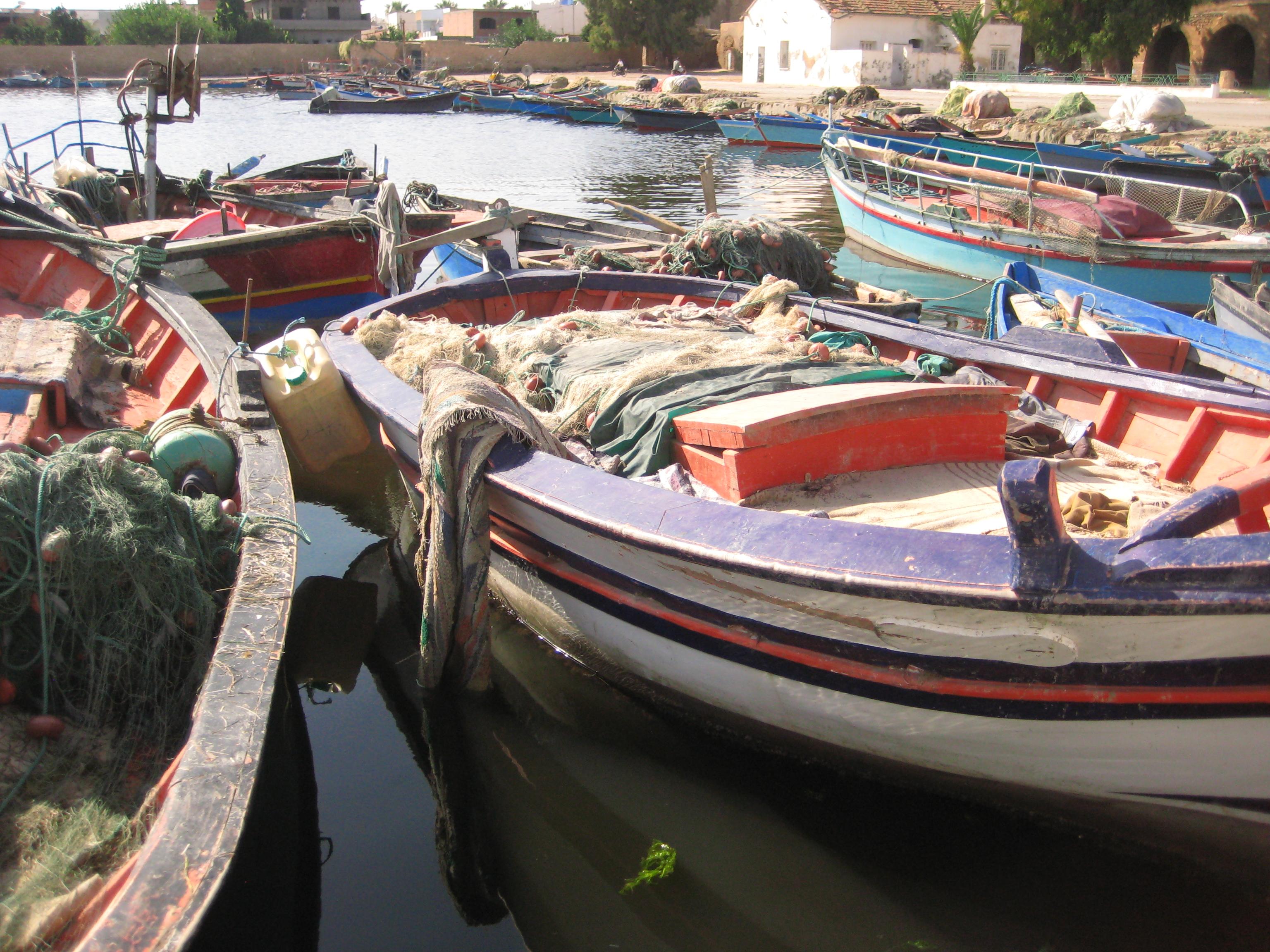 Bateaux de pêcheurs tunisiens