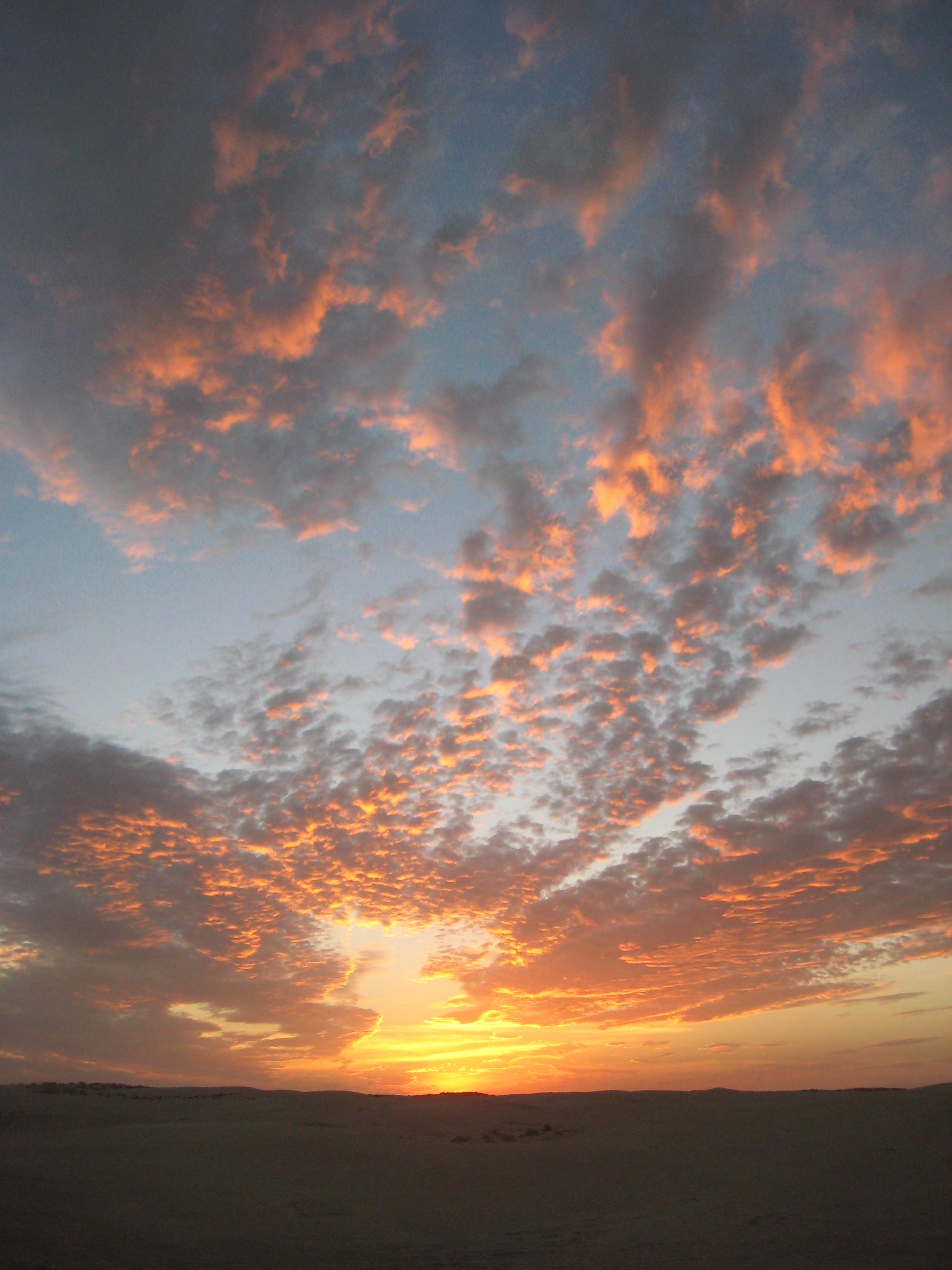 Coucher de soleil en Tunisie