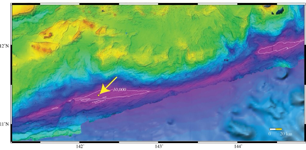 L'endroit Le plus profond de la planète  © University of New Hampshire Center for Coastal and Ocean Mapping/Joint Hydrographic Center