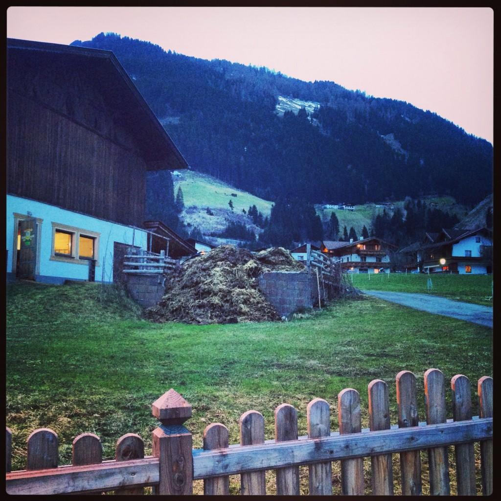 Une étable, Tyrol, Autriche