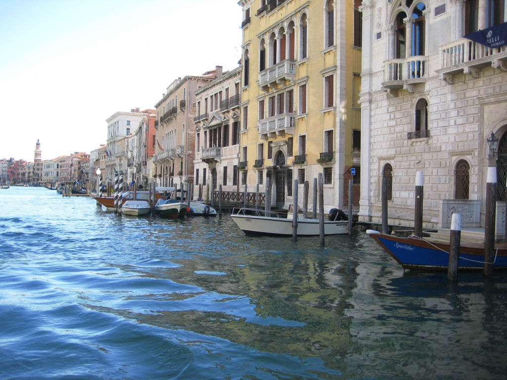 Reflets sur le Grand Canal à Venise