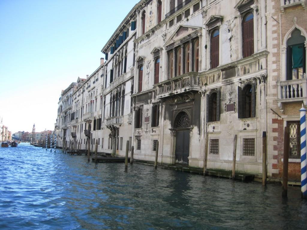 Un palais vénitien les pieds dans l'eau