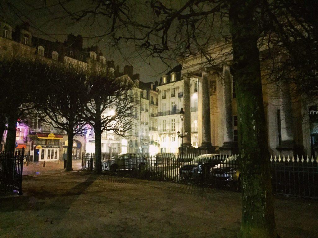 Le quartier du palais de la bourse à Nantes