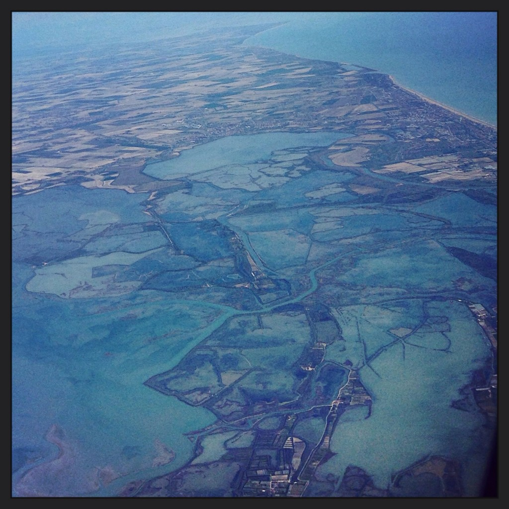 19. La lagune de Venise vue du ciel
