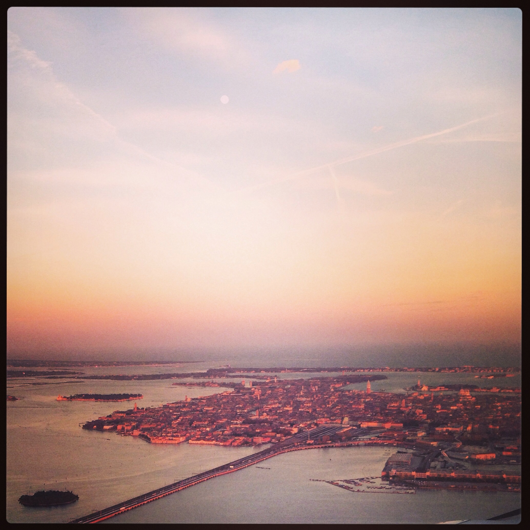 L'arrivée à Venise en fin de journée un moment magnifique