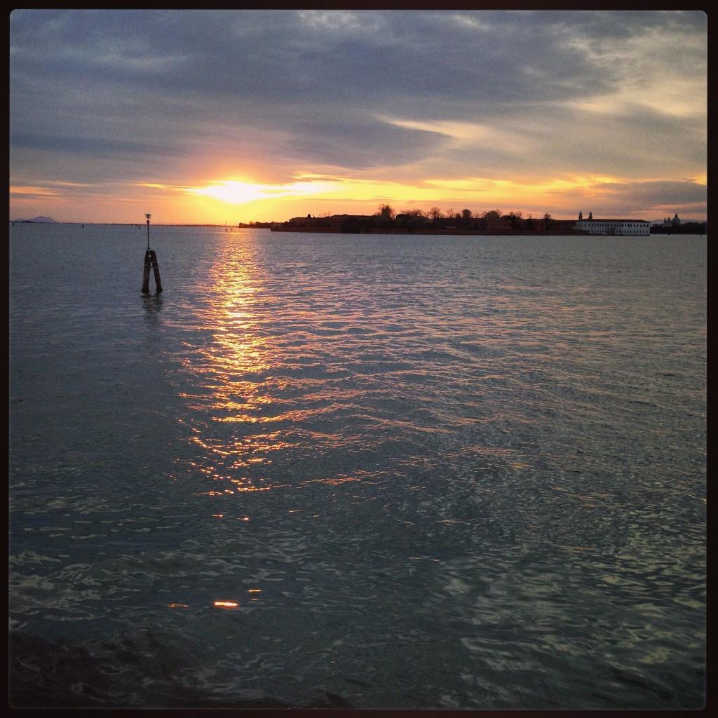 Vue sur Venise depuis le Lido