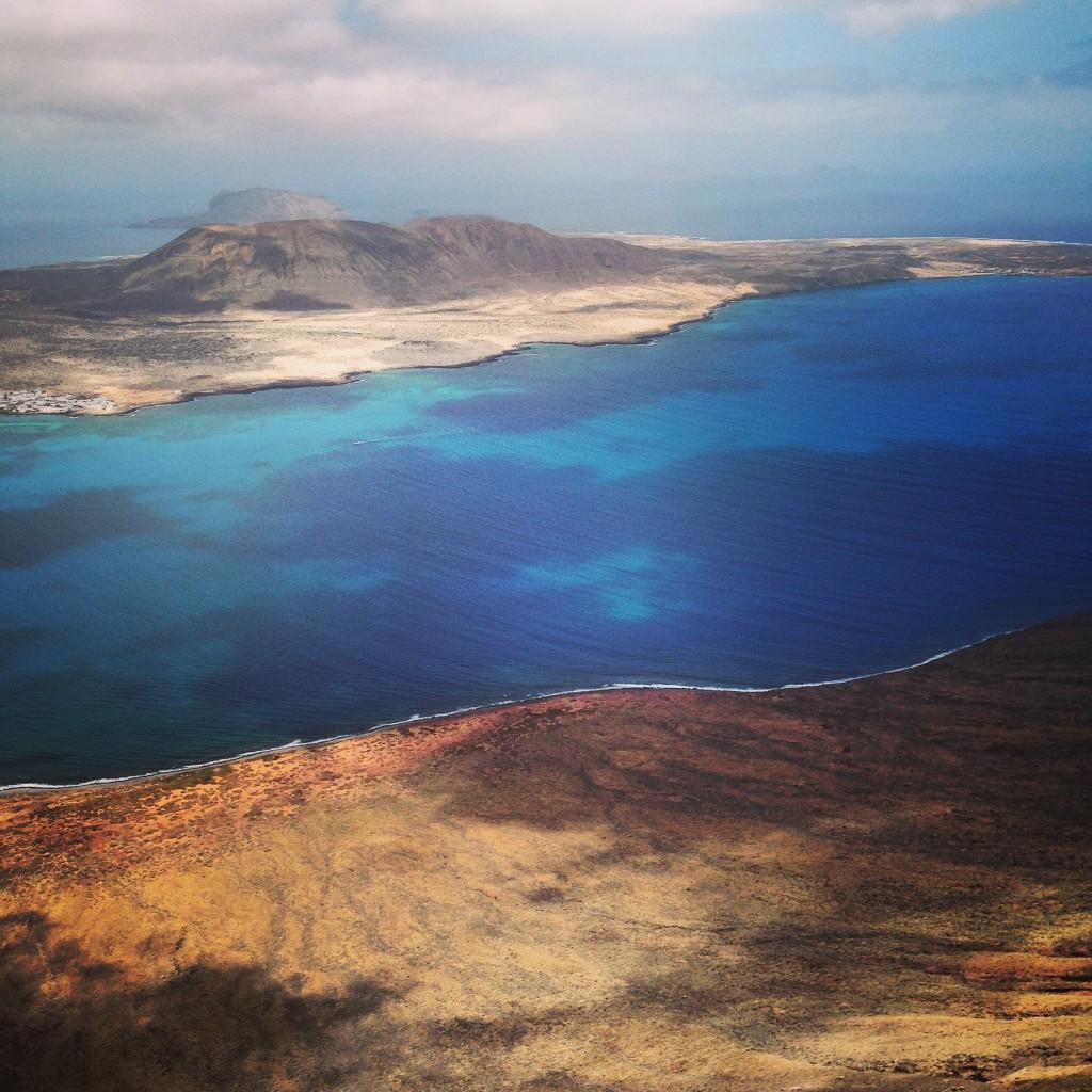 L'île de la Grasiosa vue depuis les hauteurs de Lanzarote