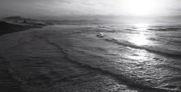 Biarritz en noir et blanc et en couleur