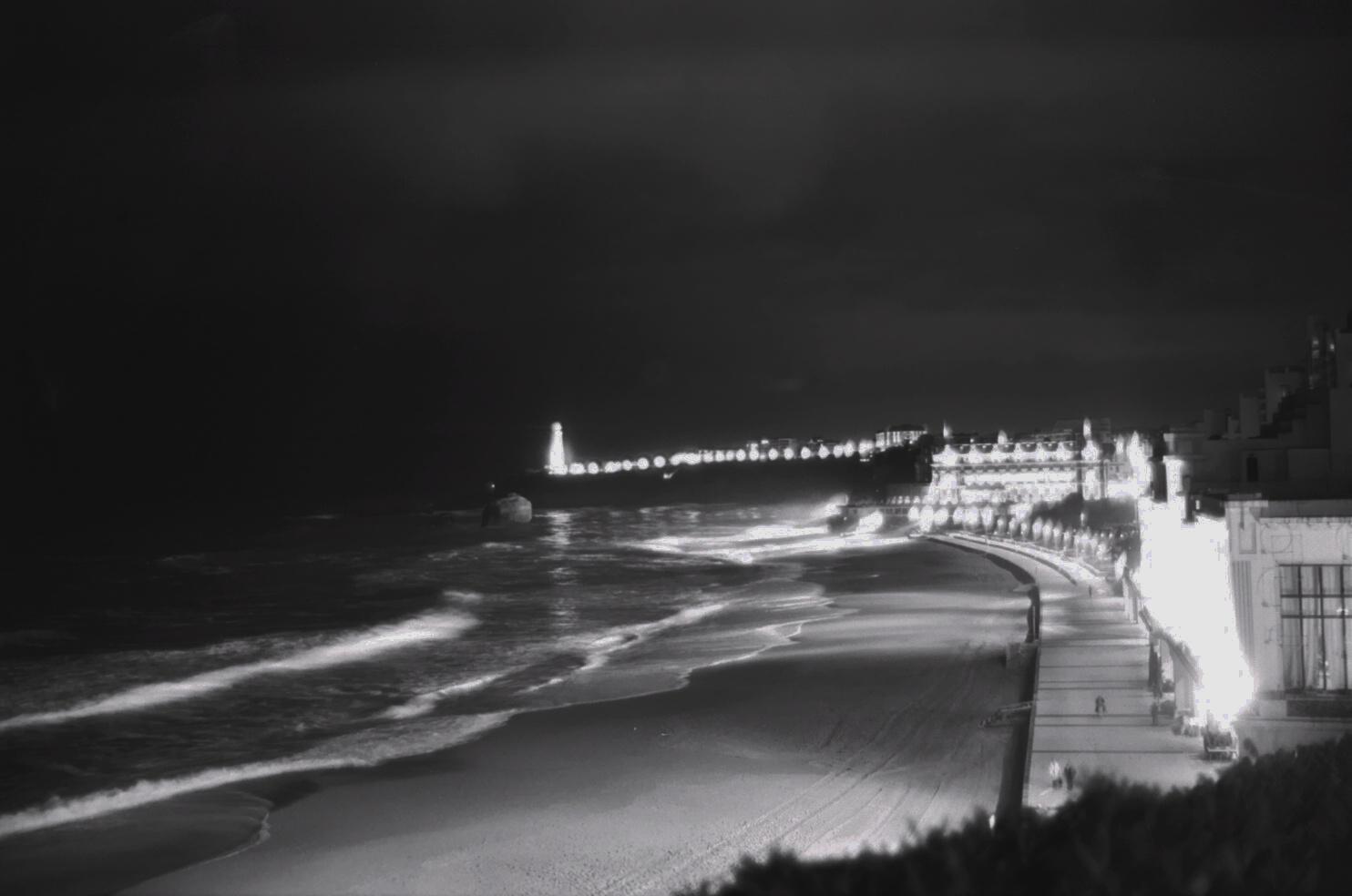 photos de biarritz en noir et blanc et en couleur escale de nuit. Black Bedroom Furniture Sets. Home Design Ideas