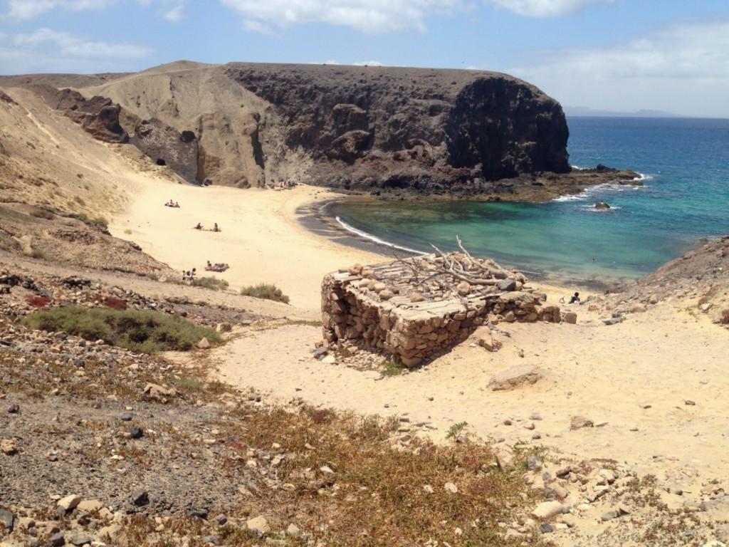 La plage de Papagayo au sud de Lanzarote
