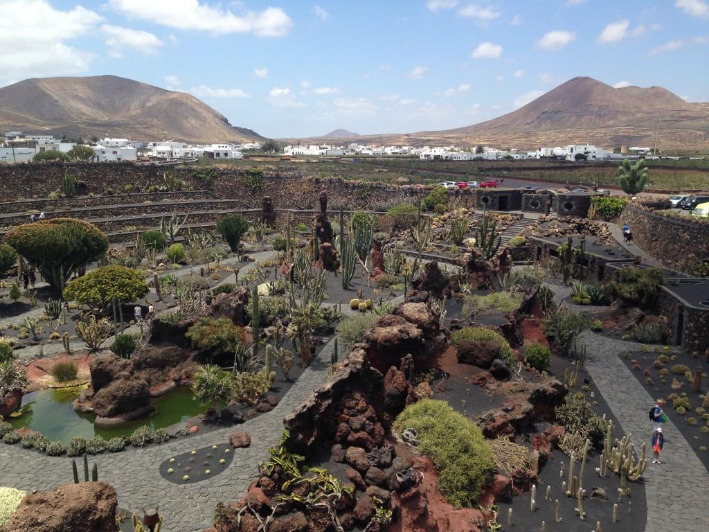 Le jardin de cactus à Lanzarote