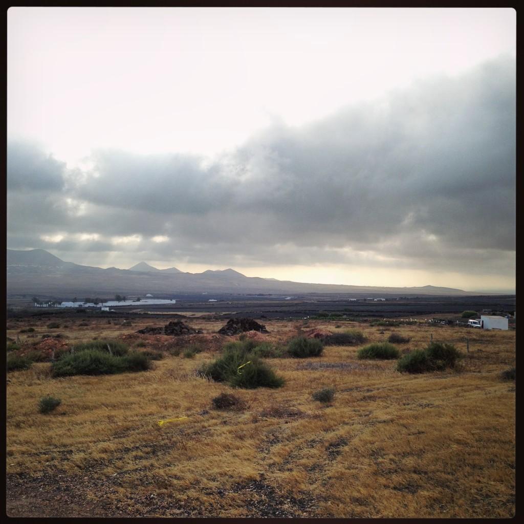 Les plaines de l'île de Lanzarote