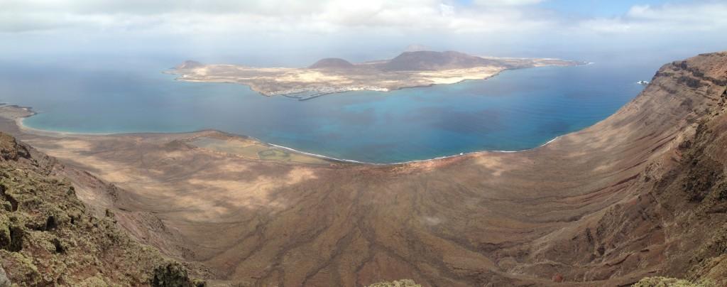 Panorama depuis El Mirador del Rio à Lanzarote
