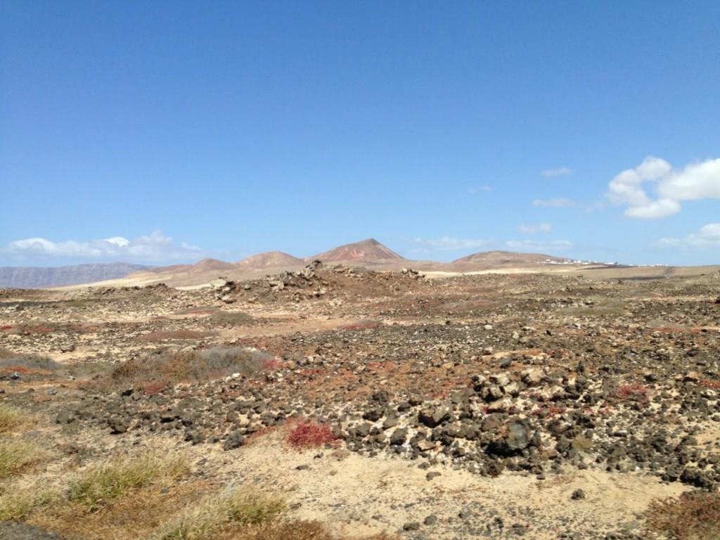 Paysage quasi désertique au nord de la Santa