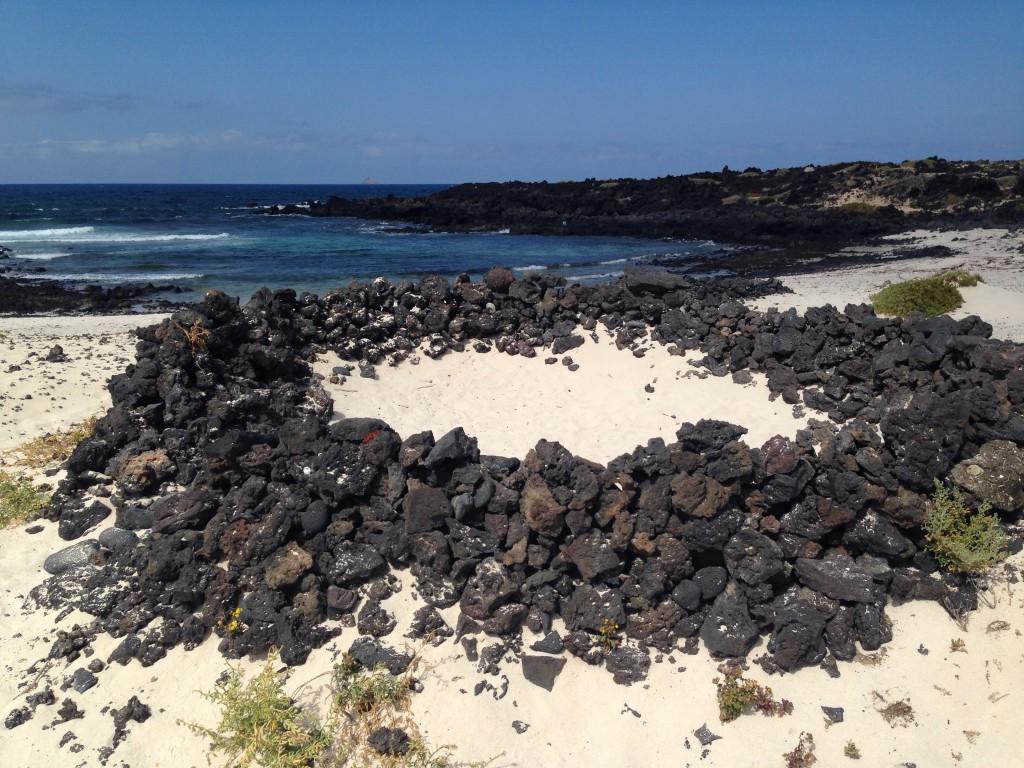 Une plage au nord-ouest de l'île de Lanzarote