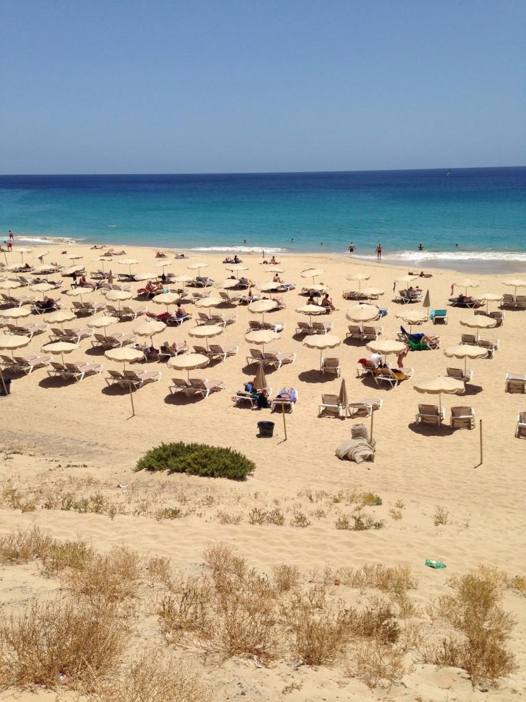 Une plage à Morro Jable à Fuerteventura