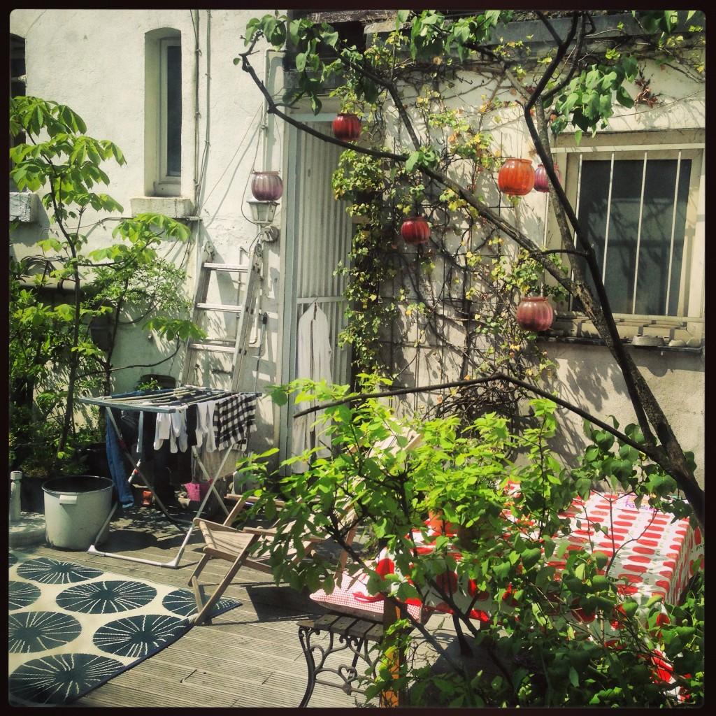 Un petit jardin caché du centre ville de Düsseldorf