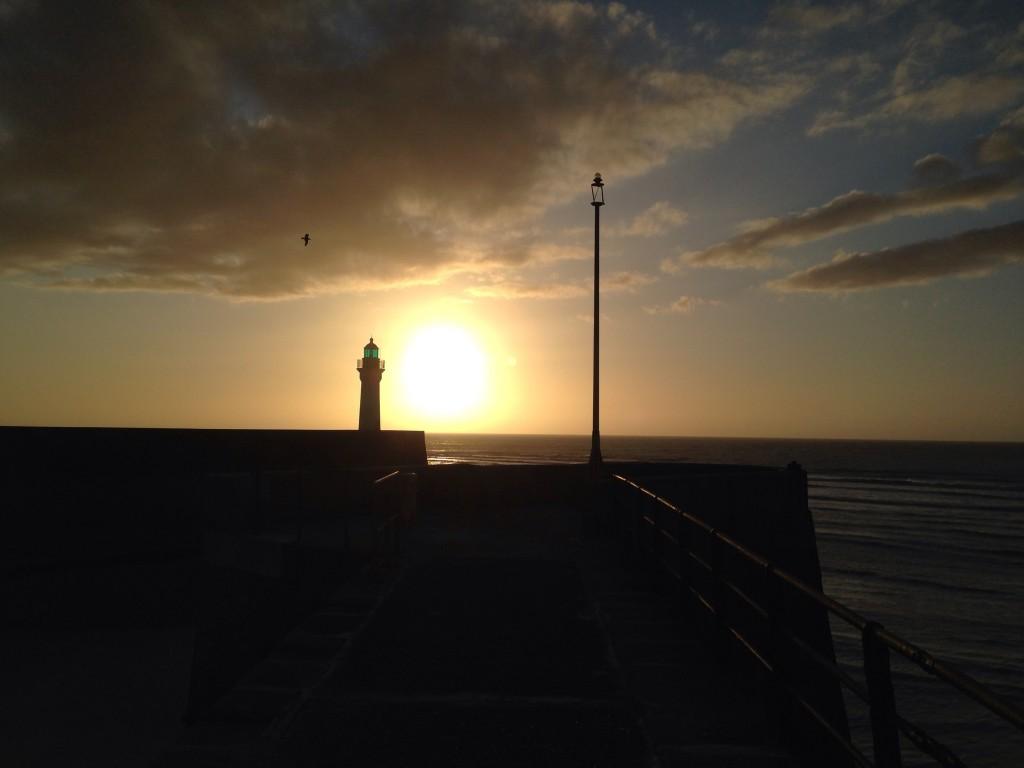 Coucher de soleil sur le port de Saint-Valéry