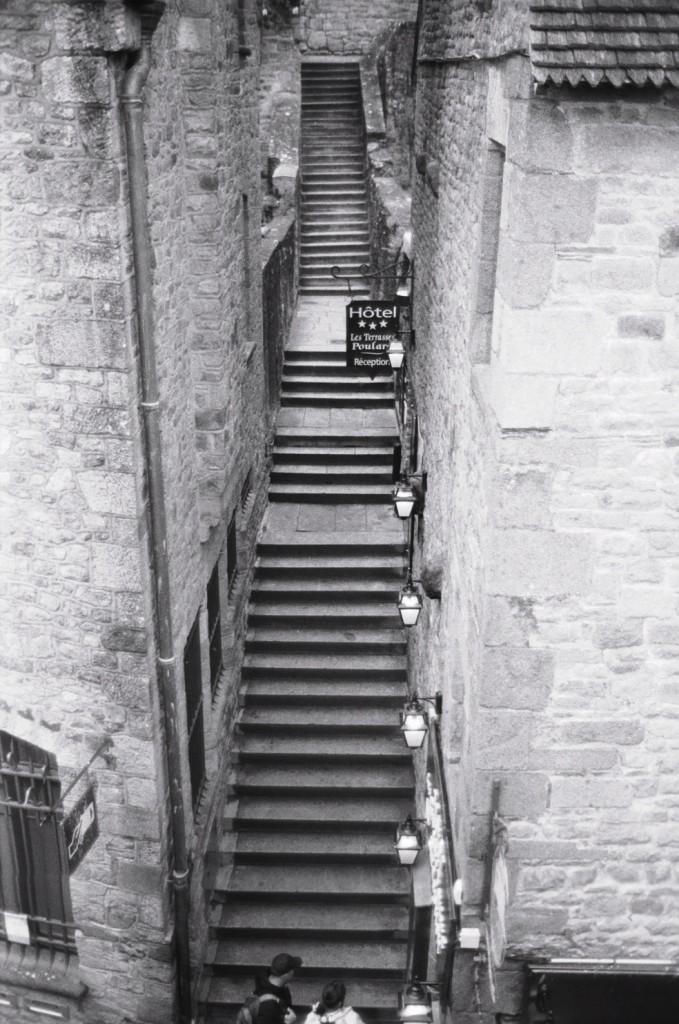 Les escaliers du Mont Saint-Michel