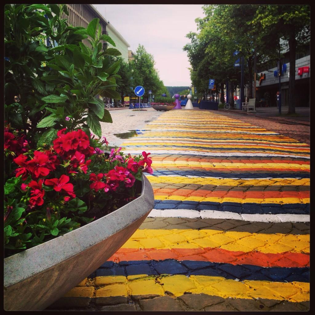 7. Un peu de couleurs dans le centre ville de Lahti pour mieux affronter l'hiver