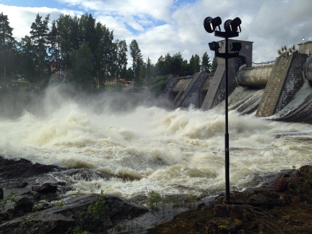 29. Le barrage d'Imatra non loin de la frontière finno-russe
